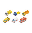 city service cars set ambulance fire garbage vector image