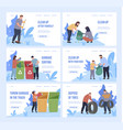 collection webpage banners with people vector image