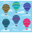 Colorful balloon in the sky seamless background vector image