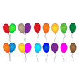 colorful party balloons collection vector image