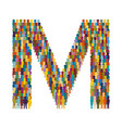 crowd of people in form of capital letter m flat vector image vector image