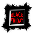 dark black friday sale poster sale frame vector image