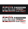 denim sport typography slogan t-shirt graphics vector image vector image