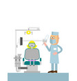 dentists office cartoon with with vector image vector image