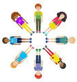 faceless characters standing in circle vector image vector image