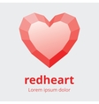 Faceted Heart Symbol vector image
