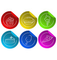Fastfood stickers vector image vector image