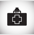 first aid kit on white background vector image