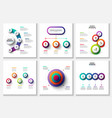 gradient infographic and marketing elements vector image vector image