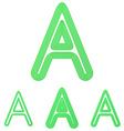 Green letter a logo design set vector image vector image