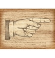 Hand with pointing finger EPS 10 vector image vector image
