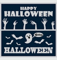 happy halloween greeting on vector image