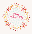 happy mother day with wreath floral vector image vector image