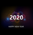 happy new year with colorful fireworks vector image vector image