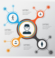 human icons set collection of jogging work man vector image vector image