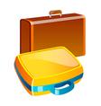 icon suitcase vector image vector image