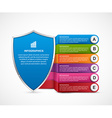 Infographic with security shield vector image