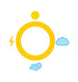 isolated composed weather icon vector image