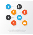 job icons set collection of presenting man vector image vector image
