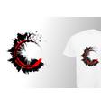 logo round grunge print stylish t-shirt printing vector image