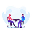 loving couple dating in autumn time young man vector image vector image