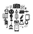 mobile monitor icons set simple style vector image vector image