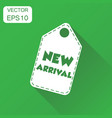 new arrival hang tag icon business concept new vector image
