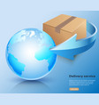 oncept delivery service cargo world wide vector image vector image