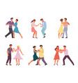 people dancing in pairs set stylish male and vector image