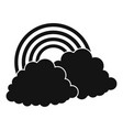 rainbow icon simple black style vector image