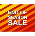 Red striped sale poster with END OF SEASON SALE vector image vector image
