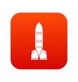 rocket icon digital red vector image