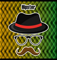 set accessories style hipster vector image vector image