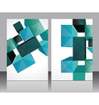Set banners with 3d Cubes background - vector image vector image