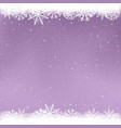 snowy purple color winter template vector image vector image
