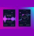 sound waves banner set music soundtrack vector image vector image
