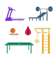 Sports equipment Colored vector image
