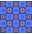 The geometric pattern of square shapes and vector image vector image