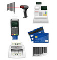 trading banking equipment for a shop set icons vector image