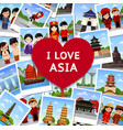 travel to asia vector image vector image