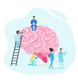 treatment of brain diseases concept vector image vector image