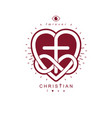 true infinite christian love and belief in god vector image vector image
