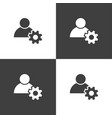 user icon simple sign business vector image vector image