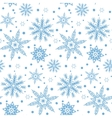 Winter pattern with various falling snowflakes vector image vector image