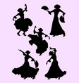 woman dancing flamenco silhouette 01 vector image