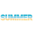 word summer stuffed with beach landscape vector image