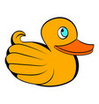 yellow rubber duck icon icon cartoon vector image