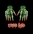 zombie hand image vector image vector image