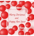 Colorful poster with red balloons for holiday vector image