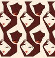 woman seamless pattern vector image